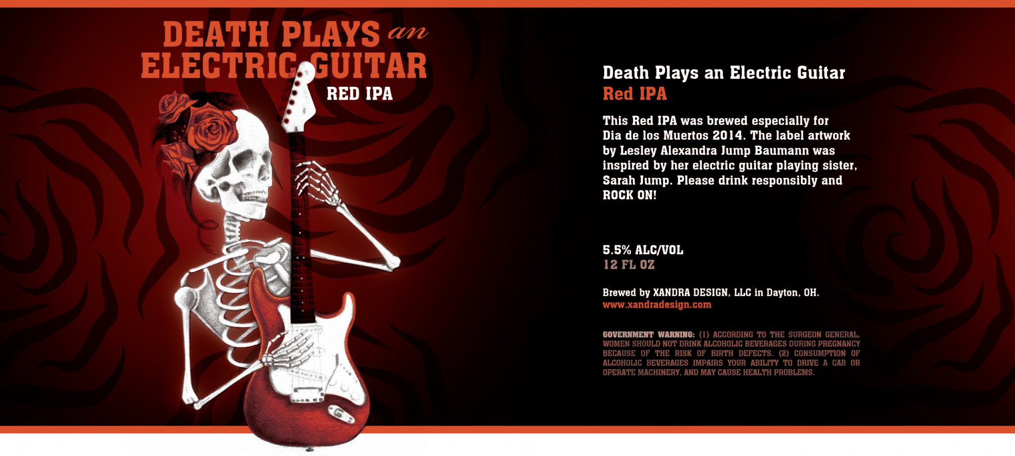 Death Plays an Electric Guitar Label
